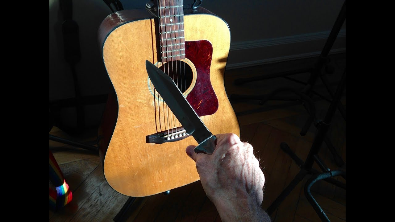 guitar lesson how to play slide guitar blues with a knife scissor this is the brooklyn blues. Black Bedroom Furniture Sets. Home Design Ideas