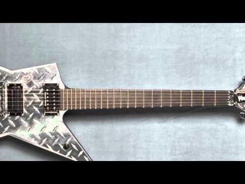 dimebag darrell 39 s washburn diamondplate guitar from pantera 39 s 2000 tour youtube. Black Bedroom Furniture Sets. Home Design Ideas