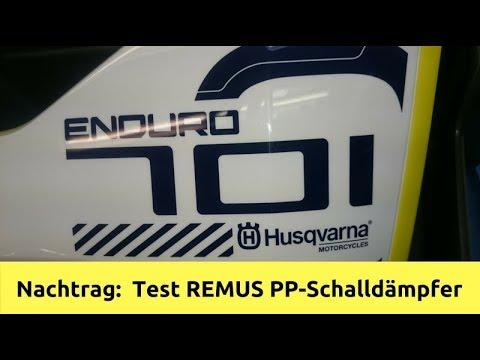 Nachtrag Husqvarna 701 2017. Testlauf mit dem PP-REMUS Schalldämpfer