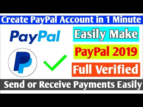 How to create a verified paypal acc in a while I Working 100%