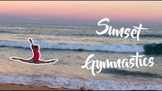 Sunset Gymnastics   Gymnastics on the beach!