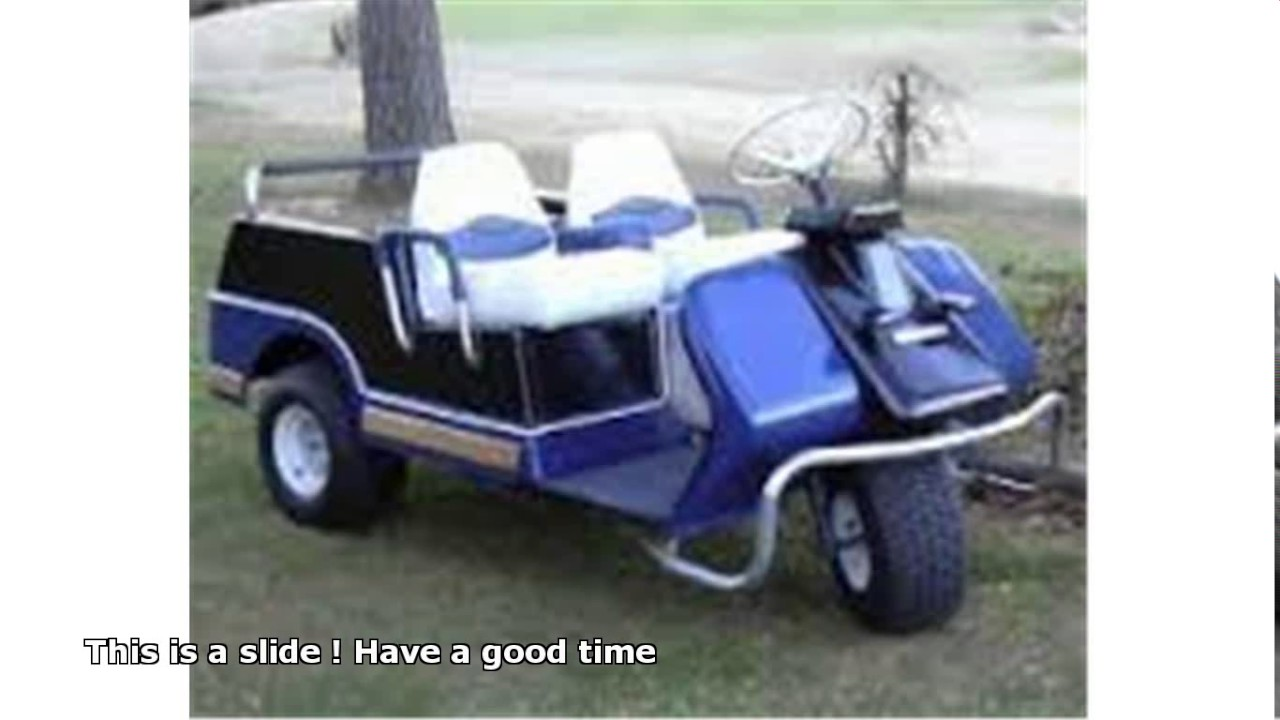 harley davidson 3 wheel golf cart - YouTube