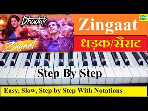 Zingaat, Dhadak/Sairat (Ajay Atul) Easy Piano Tutorial Step By Step With Notations