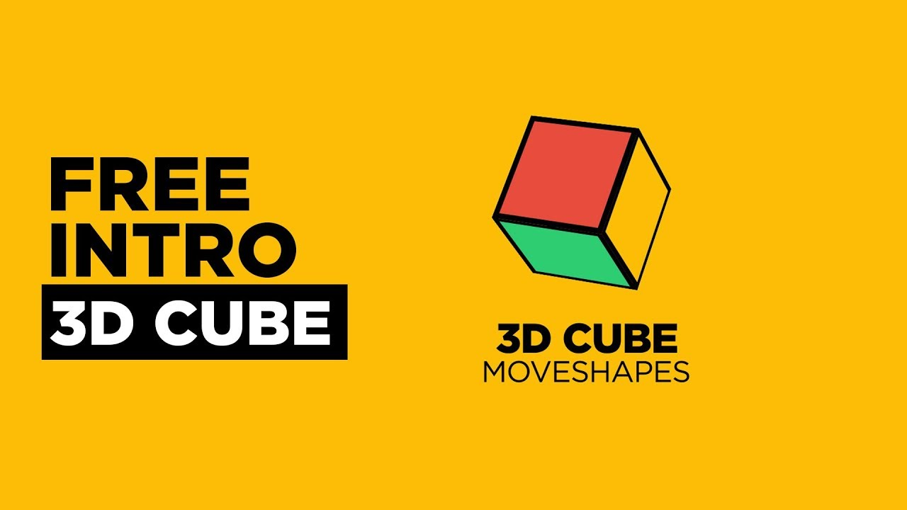 free 3d cube intro 1 free after effects template youtube. Black Bedroom Furniture Sets. Home Design Ideas