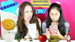 Smoothie Challenge!! With Mommy-Extreme Gross Food Challenge  B2cutecupcakes