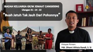 Ibadah Keluarga 22 Oktober 2020 - Pdt. Dhemi Afrista Randi, S. Si || GKJW Cangkring