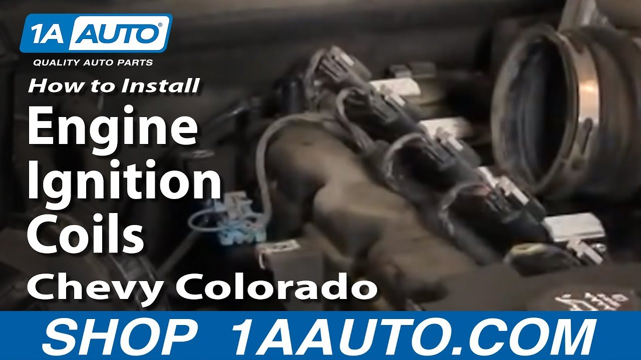 How To Install Replace Engine Ignition Coils Chevy Colorado 04 12