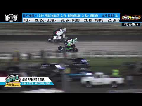 Knoxville Raceway 410 Highlights - July 6, 2019