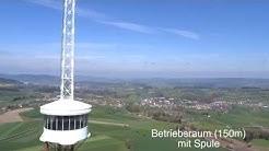 Flug über Sendeturm Beromünster (217m) Dji Phantom