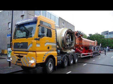 Kermis Tilburg 2015 Transport en opbouw deel 4
