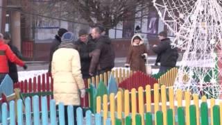 Бійка біля рівненської головної ялинки посеред дня