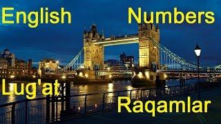 Ingliz tili Lug'at Raqamlar. English Vocabulary Numbers. Misollar bilan. RIDDIN.UZ