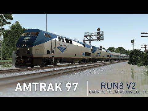 Run8 V2 | Amtrak 97 Cabride - Backswamp, GA to Jacksonville, FL