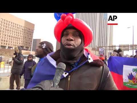 New York protesters denounce Trump over Haiti slur