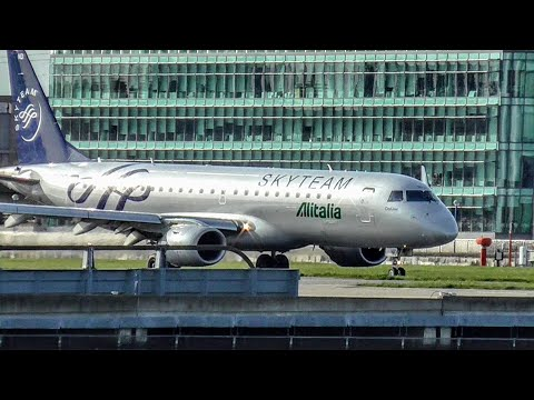 Planes at London City Airport, LCY   05/04/2018