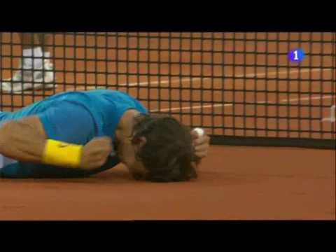 Rafa Nadal vs. Roger Federer, 6-4 7-6 (5), final Masters 1000 Madrid