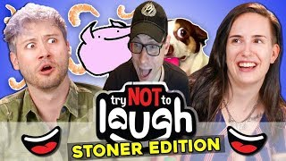 Try To Watch This Without Laughing or Grinning (Stoner Edition) REACTION