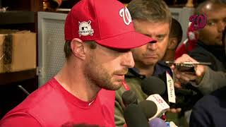 Max Scherzer shares his thoughts on fifth inning in Game 5 of NLDS