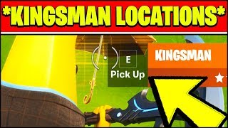 HOW TO BLOCK DAMAGE WITH A KINGSMAN & KINGSMAN LOCATIONS (Fortnite Season 2 Challenges)