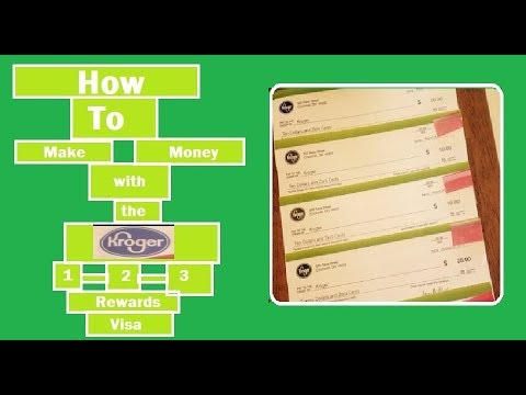 How to MAKE Money With The Kroger 1-2-3 Rewards Visa Card