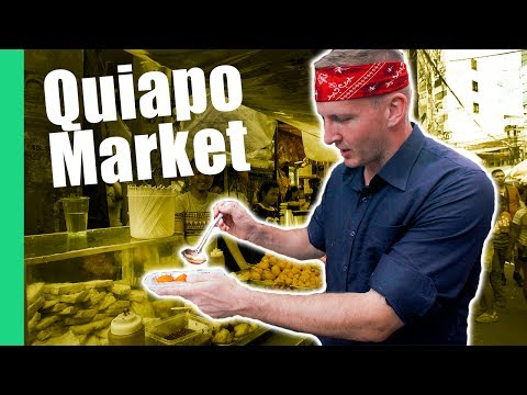 Filipino Street Food Tour in Quiapo Market, Manila (Turon, Kwek Kwek, Fried isaw)
