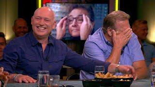 De mannen lachen om reclame met René Froger - VI ORANJE BLIJFT THUIS