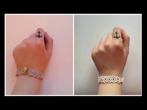 Как делать браслет с наушников