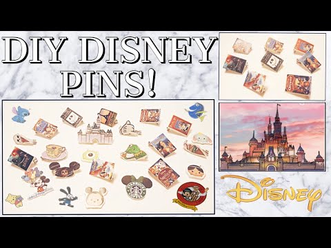 5+ Easy Ways to DIY DISNEY Pins WITHOUT Shrinking Paper! °o°|100 Pin Challenge Ep. 2! Disney & more!