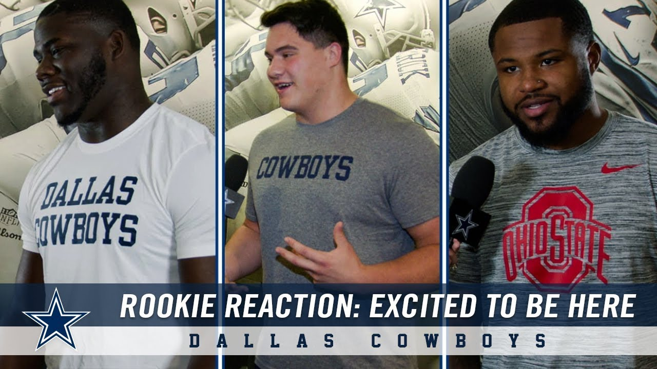 3aa8b2c4 Dallas Cowboys Rookie Reaction: Excited To Be Here   Dallas Cowboys ...