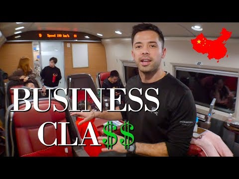 chinese-bullet-train-business-class-&-1st-class-review!