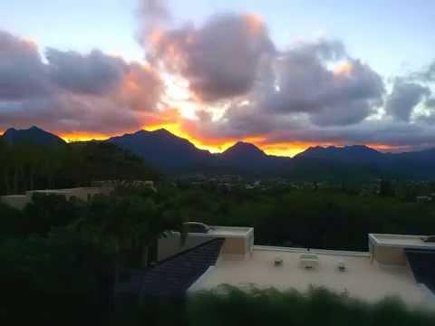 Sunset Kailua Lanikai Oahu Hawaii