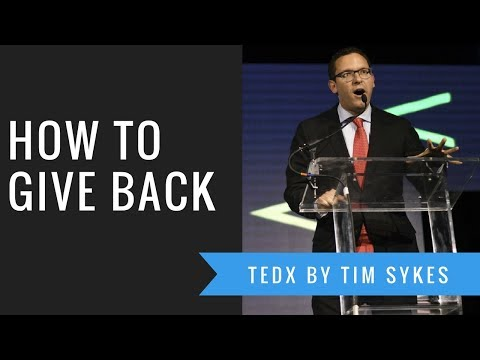 TEDx Talk By Penny Stock Millionaire Timothy Sykes: How to Give Back and Become a Philanthropist