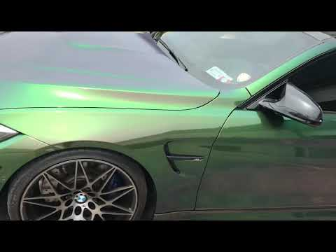 Gloss Urban Jungle Avery SW900 Color Shift Film On BMW M4