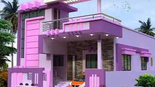 BEST PURPLE COLOR HOME ELEVATIONS