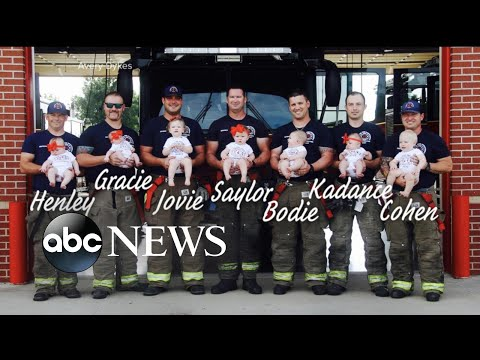 Photographs capture baby boom at fire department