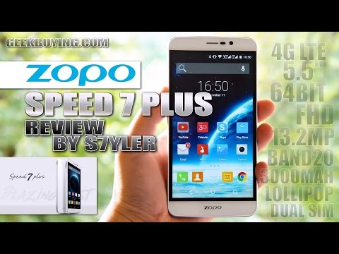 "ZOPO Speed 7 Plus (Review) 5.5"" FHD, MTK6753 Octa-Core, 3000mAh, 3GB RAM, 4G LTE, OTG, Android 5.1"
