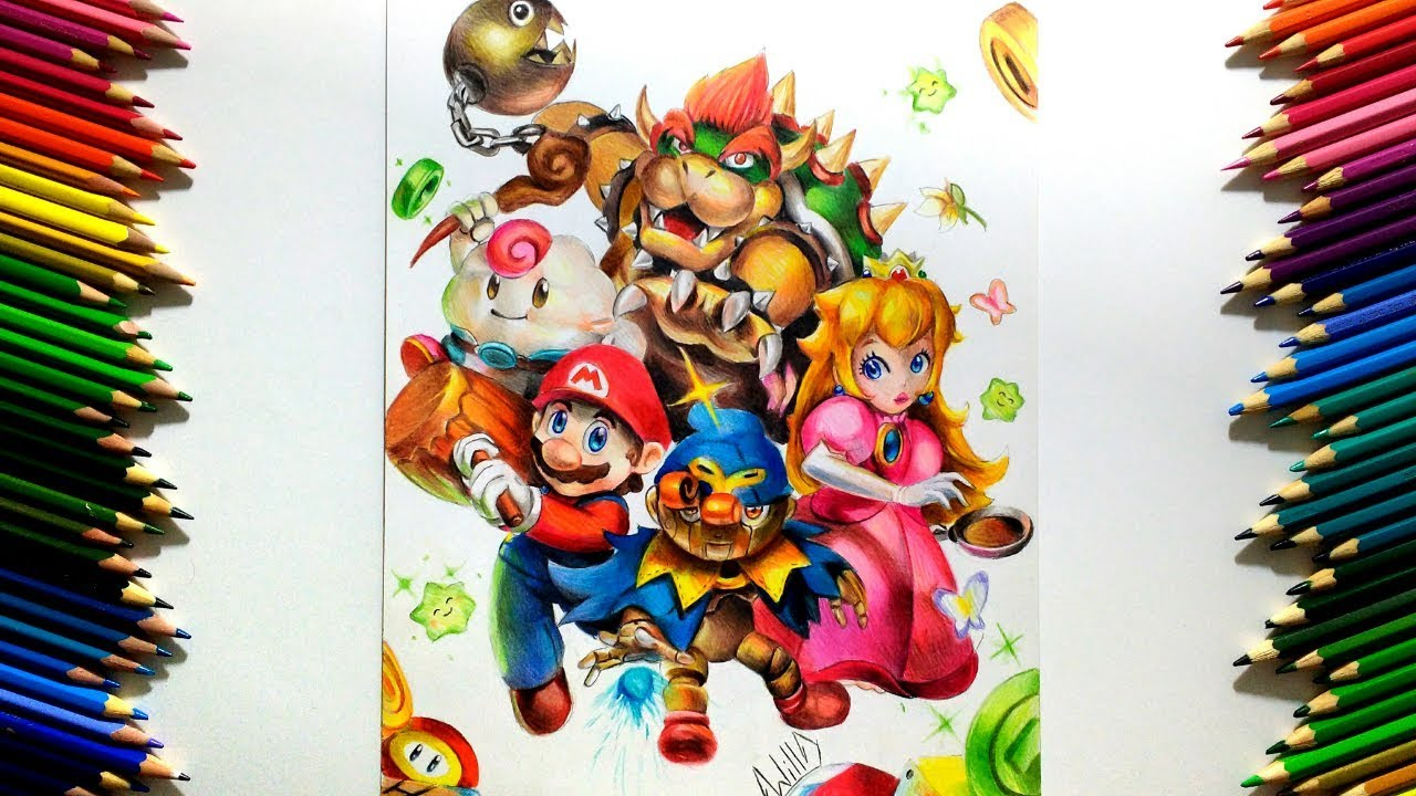 Drawing - Super Mario RPG (Super Nintendo)