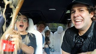 COCA COLA VS MENTOS INSIDE CAR!!