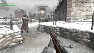 Call of Duty 2 Walkthrough - Kendi Adamını Vurmaya Doyamamak - Part 1