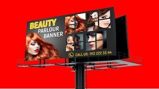 Billboard design in Photoshop | How to design billboard