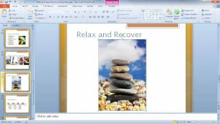 Powerpoint 2010 Using The Blur Effect Youtube