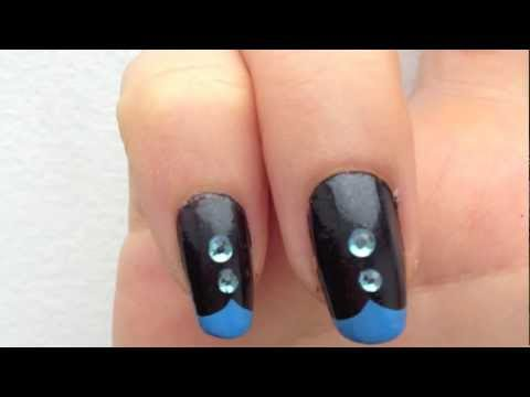 Black and Blue manicure