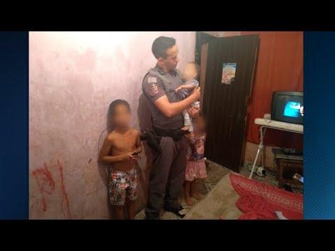 Mãe é presa após deixar os três filhos pequenos sozinhos em casa   Primeiro Impacto (09/03/18)