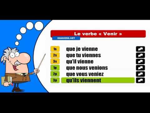 La Conjugaison Du Verbe Venir Subjonctif Present Youtube