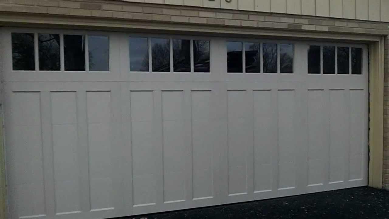 WestmontIL New Garage Doors A Clopay CD12 Coachman Carriage House Door  YouTube