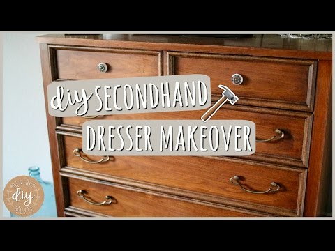DIY Bedroom Furniture⎪Secondhand Dresser Makeover