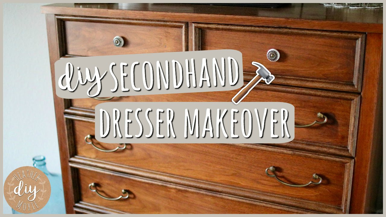 DIY Bedroom Furniture⎪Secondhand Dresser Makeover - YouTube