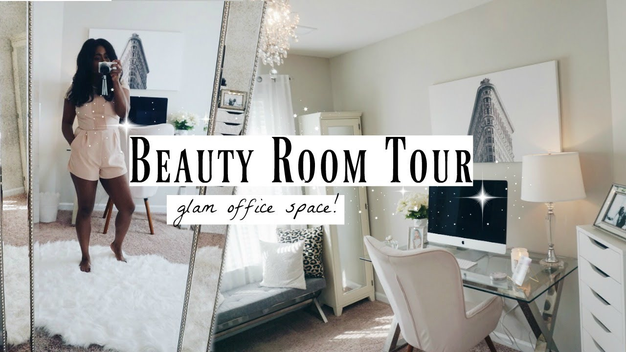 Glam Room Tour  Makeup & Office Inspo  My Style in 30