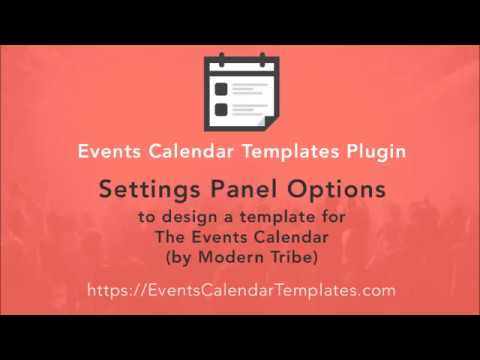 The Events Calendar Shortcode  Templates Plugin Settings Panel