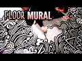 Drawing on the Bathroom Floor (Freestyle Mural)
